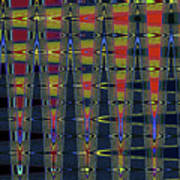 Window At Tempe Center For The Arts Abstract Poster