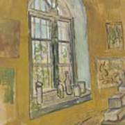 Window In The Studio Saint-remy-de-provence, September - October 1889 Vincent Van Gogh 1853 - 1890 Poster