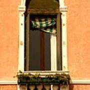 Window In Venice Poster