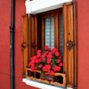 Window On Burano Poster