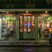 Window Shopping, French Quarter, New Orleans Poster