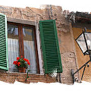 Window Siena Italy Poster