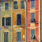 Windows Of Portofino Poster by Joana Kruse