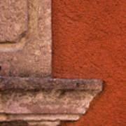 Windowsill And Orange Wall San Miguel De Allende Poster