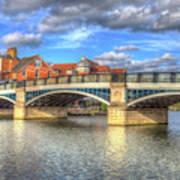 Windsor Bridge River Thames Poster