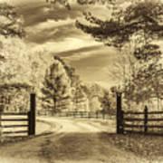 Windstone Farm - Sepia Poster