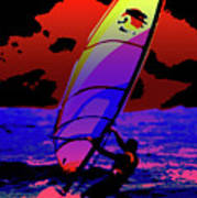 Windsurfer Poster by Brian Roscorla