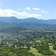 Windward Oahu Panorama I Poster