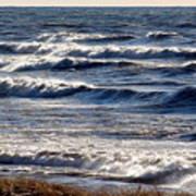 Windy Spring Lake Huron Poster