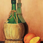Wine And Oranges Poster
