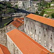 Wine Cellars In Vila Nova De Gaia By The Douro River Poster