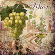 Wine Country Rhone Poster