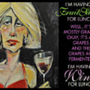 Wine For Lunch Poster Poster