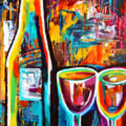 Wine Lovers Abstract Poster