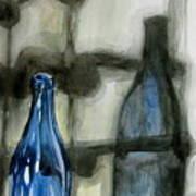 Wine Rack Shadows Poster