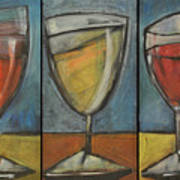 Wine Trio - Option One Poster by Tim Nyberg