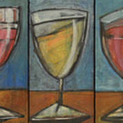 Wine Trio Option 2 Poster by Tim Nyberg