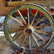 Wine Wagon Wheel Poster