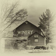 Winery In Sepia Poster