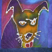 Winky Quilt Centerpiece Detail Poster