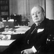 Winston Churchill At Number 10 Downing Street Poster