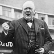 Winston Churchill Campaigning - 1945 Poster
