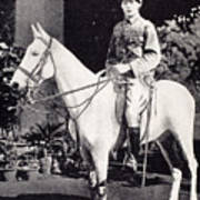 Winston Churchill On Horseback In Bangalore, India In 1897 Poster