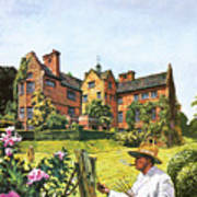 Winston Churchill Painting At Chartwell Poster