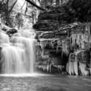 Winter At Big Falls  Poster