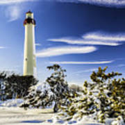 Winter At Cape May Light Poster