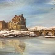 Winter At Eilean Donan Poster