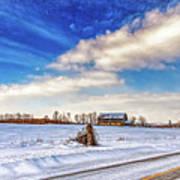 Winter Barn 3 - Paint Poster