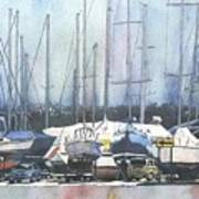 Winter Blues, Sal Boats, Boating Paintings, Boat Paintings, Boat Prints Poster