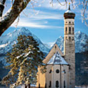 Winter Church In Bavaria Poster