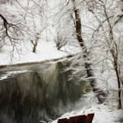 Winter Contemplation Watercolor Painting Poster