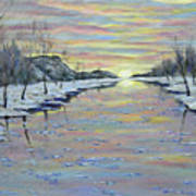 Winter Expression Sunrise Poster