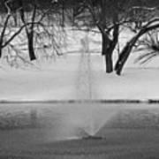 Winter Fountain Poster