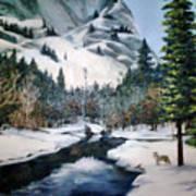 Winter Half Dome Poster