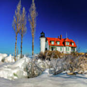 Winter Ice At Point Betsie Poster