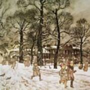 Winter In Kensington Gardens Poster