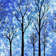 Winter In The Woods Abstract Poster