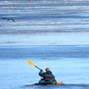 Winter Kayak Poster