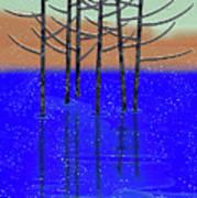 Winter Lake Poster