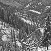 Winter Landscape In Giurgeu Mountains Poster