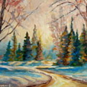 Winter Landscape Knowlton Quebec Poster