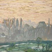 Winter Landscape With Evening Sky Poster