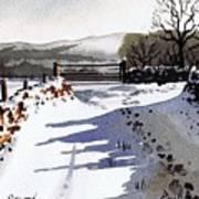 Winter Lane Sowood Poster