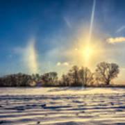Winter Morn In Minnesota Poster