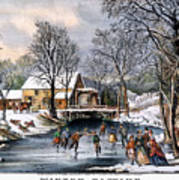 Winter Pastime, 1870 Poster