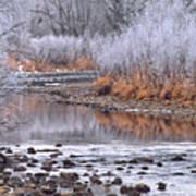 Winter River Poster by Bruce Gilbert